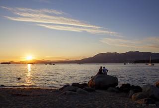 The Sun Sets Over Kits Beach