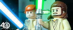 18. Jinn and Kenobi (kyle.jannin) Tags: lego legostarwars star wars episode i the phantom menace quigon jinn obiwan kenobi duel naboo palace 40 anniversary celebration taylorstevenson