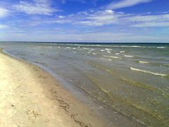 Baltic Sea Beach (artifex marcus) Tags: beach water sea sky clouds waves coast