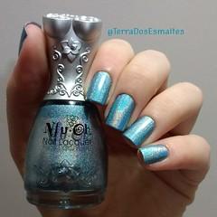 Nfu-Oh - 66 (Fraulein Ana ~) Tags: esmalte esmaltes holographic holográfico azul nfuoh