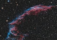 Eastern Veil Nebula - Supernova remnant - NGC6992/95 (Waskogm) Tags: eastern veil nebula supernova remnant ngc6992 astrophotography skywatcher waskogm aristarh space stars sky cosmos