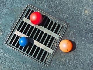 Street Drain Grill and Balls 6244 B