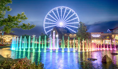 The Island Show Fountain (Thomas Johnson 18) Tags: pigeonforge tennessee outside outdoors canon digital 5d markiv 5dmarkiv wet water lightshow jet jets 60feet stateoftheart theisland island nozzle spray forceful blue orange purple red green thrusting moonshine ferriswheel carousel rock rocks squirting theislandfountain thomasjohnsonphotography ©thomasjohnsonphotography ©2017thomasjohnsonphotography 2017 unitedstates