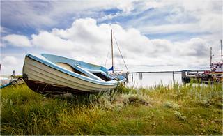 Blue Boat, blue Sky