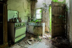 green invaders (Captured Entropy) Tags: urbex lostplace abandoned derelict decay kitchen green