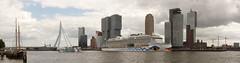 Panorama Rotterdam (Tom van der Heijden) Tags: panorama rotterdam erasmusbrug aidaprima kopvanzuid nieuwemaas haven havenrotterdam hotelnewyork rondvaartboot jachthaven maasgebouw derotterdam cruiseschip cruiseterminal cruiseterminalrotterdam