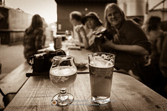 Downtown Asheville 2017-04-25 (David Simchock Photography) Tags: asheville bw barphoto davidsimchock davidsimchockphotography downtownasheville nikon northcarolina wickedweed beer blackandwhite fineale image photo photograph photography pint pintglass sepiatone usa