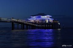 """""""Mikado Teehaus"""" am Timmendorfer Strand (Philip Neuber) Tags: timmendorfer strand meer blau teehaus mikado norddeutschland ostsee timmendorf seebrücke"""