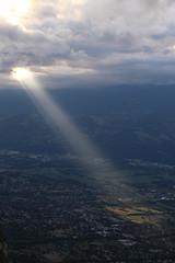 Perçée (leblondin) Tags: rayon ciel sky nuage ray sunray clouds