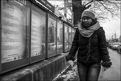 0A77m2_DSC2247 (dmitryzhkov) Tags: fence pretty prettywoman hat bed badweather weather snow wind cold frost eye eyes eyecontact contact look looks window box reflection art city europe russia moscow documentary journalism street urban candid life streetlife outdoor streetscene close scene streetshot image streetphotography candidphotography streetphoto moment light shadow photography shot people population resident inhabitant person live portrait streetportrait candidportrait unposed public face stranger woman women lady sony alpha day daylight black blackandwhite bw monochrome white bnw blacknwhite motion movement