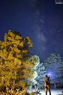 Milky Way Sobre La Rumorosa,Baja California,Mexico.