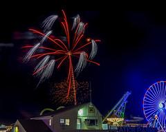 Wildwood Boardwalk Fireworks (Daveyal_photostream) Tags: fireworks d600 nikon nikor wildwoodnewjersey newjersey meandmygear mygearandme mycamerabag motion longexposure nightphotography nightshot awesomeshots anawesomeshot ferriswheel colorful beautiful beauty fun amusementpark rides night