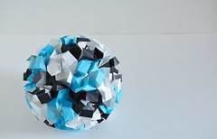 Aperio Ice Crystal Variation (Byriah Loper) (Byriah Loper) Tags: origami origamimodular modularorigami modular kusudama paperfolding paper polygon polyhedron byriahloper crease