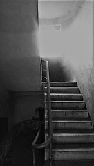 Staircase (ghostwithtoast) Tags: staircase schody abandoned black white sun wycieczka trip patrze closed dom homesweethome house duchologia widmontologia hauntology hauntologia ghost albonie