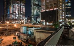 Hudson Yards (20170716-DSC07298) (Michael.Lee.Pics.NYC) Tags: newyork hudsonyards highline rail trains tracks construction 11thavenue vessel night longexposure lighttrail traffictrail architecture cityscape sony a7rm2 zeissloxia21mmf28