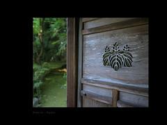 Aging beauties (Antoine - Bkk) Tags: door darktable japan kyoto garden heritage fuji closeup detail design symbol vernacular