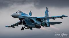 """ Russian Hardware "" (simonjohnsonphotography.uk) Tags: ukrainianairforce nikonaviation aircraft nikon aviation riat jet flanker simonjohnsonphotography riat2017 airshow afterburner sukhoi su27flanker"