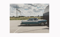 From a Swedish road trip (g a b r i e l l e s w i n d l e h u r s t) Tags: sweden summer scandinavia 1955 ford parkinglot white turquoise fairlane crownvictoria classic vingåkers örebro