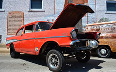 1957 Chevy Bel Air Gasser (Chad Horwedel) Tags: 1957chevybelairgasser chevybelairgasser chevy chevrolet belair gasser classic car custom sterlingmainstreet sterling illinois