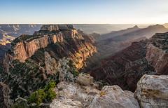 Wotans Throne, Grand Canyon (NettyA) Tags: 2017 arizona caperoyal grandcanyon grandcanyonnationalpark northrim sonya7r usa wotansthrone sunset travel