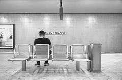 TURMSTRASSE (micagoto) Tags: berlin ubahn u9 moabit bvg street bahnhof bank bench warten waiting turmstrasse mann mn male