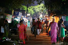 """""""I am forever chasing light. Light turns the ordinary into the magical."""" – Trent Parke (rsbarman) Tags: street life night bazar market"""