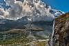 Water falls in front of the Matterhorn.  (Switzerland, Kanton Wallis , Zermatt) No, 2458, (Izakigur) Tags: alps alpes alpen alpi ch cantonduvalais d700 dieschweiz europa feel flickr myswitzerland musictomyeyes zermatt matterhorn cervin cervino glacier kantonwallis wallis swiss suiza suisia suizo europe nikond700 nikkor2470f28 climbeverymountain eau acqua wasser water