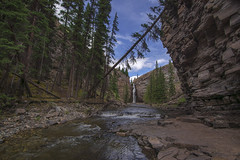 A-Frame (Len Langevin) Tags: waterfall river creek naturalframing nature canyon alberta canada rocky mountains rockies nikon d7100 tokina 1116