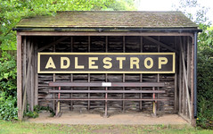 Adlestrop (R~P~M) Tags: train railway station gwr greatwestern cotswoldline adlestrop poem poetry edwardthomas seat bench nameboard sign glos village gloucestershire england uk unitedkingdom greatbritain