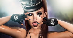 Rock me (meriluu17) Tags: masoom sg slackgirl zenith arte badgirl bad badass rock police punk emotion closeup gloves glove gem gems black cap people portrait
