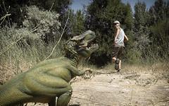 Run Away! (The.Mickster) Tags: self wideangle portrait gopro fisheye dinosaur hereios 365 toy run trex randy