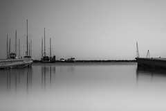 Ships Have Sailed (R*Wozniak) Tags: longexposure blackwhite bw blackandwhite nikon nikond750 water lakemichigan milwaukee sailboat nd 10stopnd landscape