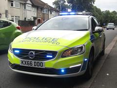 KX66 DDO (Blues And Twos) Tags: police new anpr brand lights sirens volvo interceptor kx66 ddo d3 authorities v60 uk united kingdom northamptonshire blue parked up l