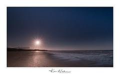 Sun Sea and Sand (Ken Walker Photography) Tags: water sun sand beach mbamburgbeach sunset bamburghcastle sea