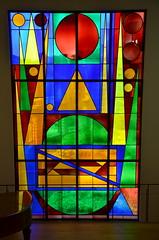 """Vitrail """"Joie"""", Musée Matisse (RarOiseau) Tags: art musée intérieur lecateau hautsdefrance vitrail couleur"""