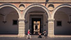 Promenade in Pesaro (Gilderic Photography) Tags: pesaro italie italia street architecture symmetry symetrie people summer vacation city panasonic lumix lx100 gilderic