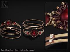 (Kunglers) Sedora bracelets AD bronze (AvaGardner Kungler) Tags: kunglers avagardnerkungler secondlifejewelry digitaljewelry diamond bracelets