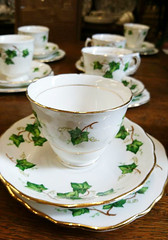 Ivy Tea Set (Snowbaby67) Tags: missmollys tearoom vintage resale redruth cornwall crockery teacups