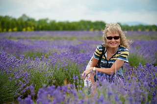 My wife in a lavander field
