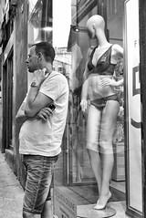 P1130342 (Francesco Pala) Tags: italy siena street candid monocrome people man waiting