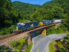 Q692 at Relief (grady.mckinley) Tags: pigeon roost clinchfield csx north carolina green mountain relief