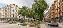 Karlavägen, Stockholm (Gösta Knochenhauer) Tags: 2017 july panasonic lumix fz100 dmcfz1000 stockholm sverige sweden schweden suède svezia suecia street urban view karlavägen allé allée p911057577icenik p911057577ice nik panorama stitch