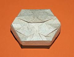 Teardrop tessellation box (mganans) Tags: origami tessellation box