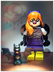 Bat Brat (LegoKlyph) Tags: lego custom minifigure batman brat batgirl goth unique rave bat readhead purple wings superhero dc comic books