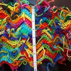 Width of he scrap yarn ripple blanket the morning before Bastille Day (crochetbug13) Tags: crochet crocheted crocheting crochetrippleafghan crochetrippleblanket crochetripplethrow scrapghan yarnscrapcrochet crochetblanket texturedcrochetblanket usewhatyouhave texturedcrochetthrow texturedcrochetafghan crochetthrow crochetafghan