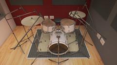 Estudio Grabación Cámara 3 Final (eestudio_nqn) Tags: música instrumentos estudio sonido vray 3dsmax bateria guitarra teclado consola photoshop diseño