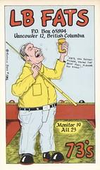 Runnin Bare #0582: LB Fats - Vancouver, British Columbia (73sand88s by Cardboard America) Tags: runninbare qsl qslcard cbradio cb vintage billiards alcohol britishcolumbia