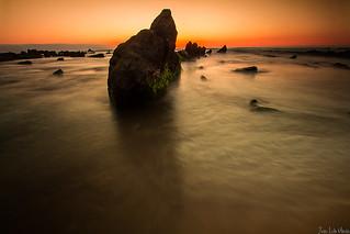 una roca de Barrika