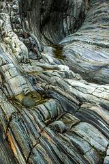 Strata (2) (jennyfleurdelyon) Tags: beach rocks strata pembrokeshire solva