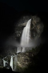 Serio waterfalls by night (samuelemarchesi) Tags: waterfalls cascate serio night notturna bulb water cold